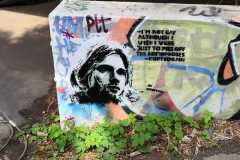 Airstream Adventures Kurt Cobain Graffity Berlin Teufelsberg