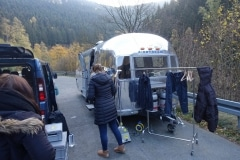 Airstream am Set