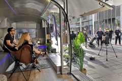 Airsream Mobile Stage Bühne Wien Mariahilfer Straße Kabarett innen