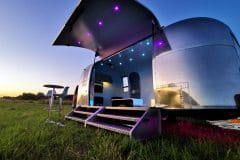 Airstream Safari Mobile Stage After Sunset