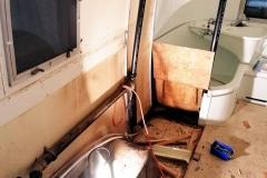 Airstream Safari Umbau Demontage Bad Küche