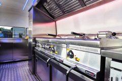 Foodtrailer ETY6 Airstream Lookalike Dunstabzug Grillplatte Fritteuse Edelstahl Innenausbau 2