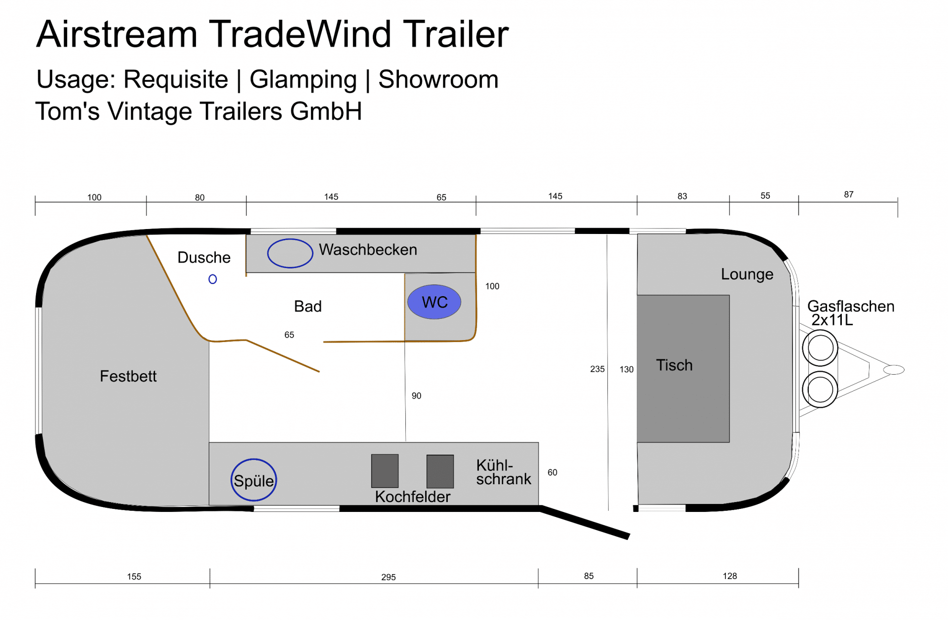 Airstream TradeWind Floorplan