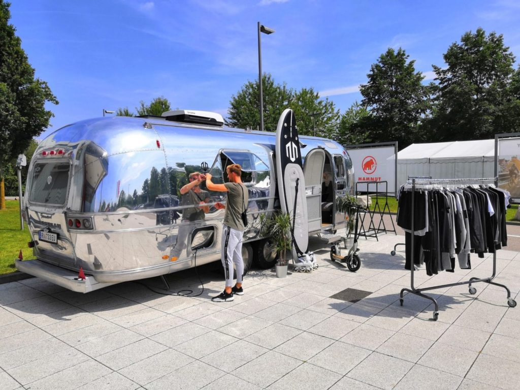 Airstream Mobile Lounge Intersport Messe Heilbronn