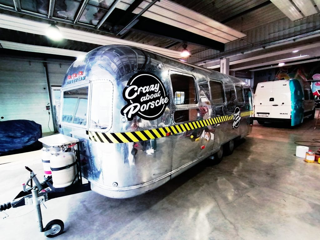 Airstream Branding für GP Ice Race 2